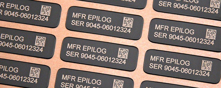 laser marked serial number plates