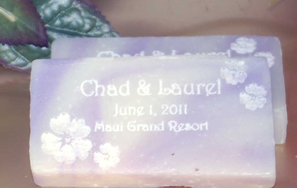 engraved soap